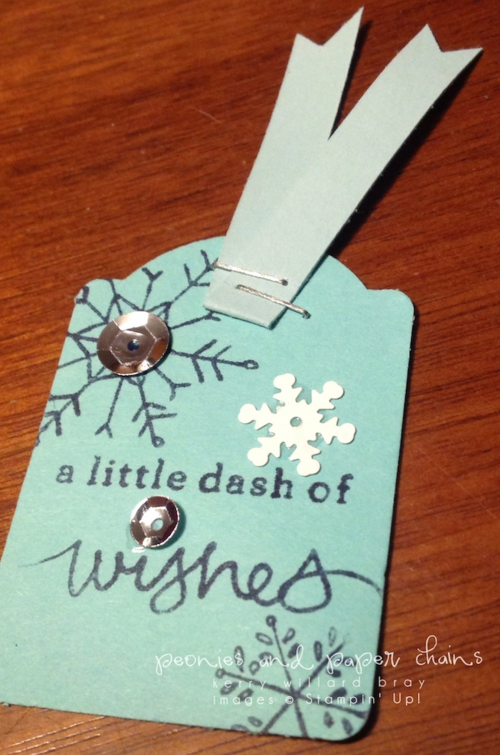 Stampin' Up! Endless Wishes gift tag by Kerry Willard Bray www.peoniesandpaperchains.com 2