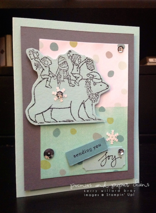 Stampin' Up! Bearing Gifts card by Kerry Willard Bray www.peoniesandpaperchains.com