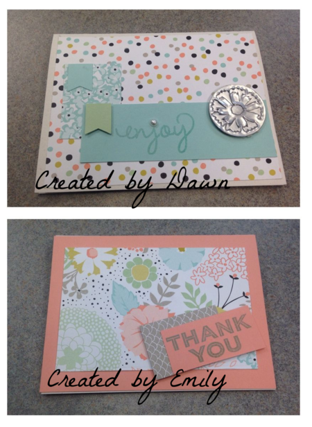 Stampin' Up!, Sweet Sorbet, 2 cards