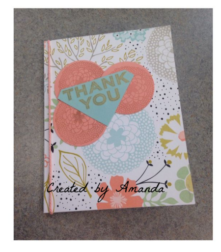 Stampin' Up!, Sweet Sorbet, Thank You Card