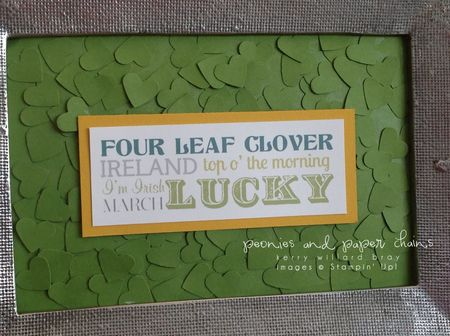 Stampin' Up!, MDS download Lucky Framable, decor by Kerry Willard Bray, www.peoniesandpaperchains.com
