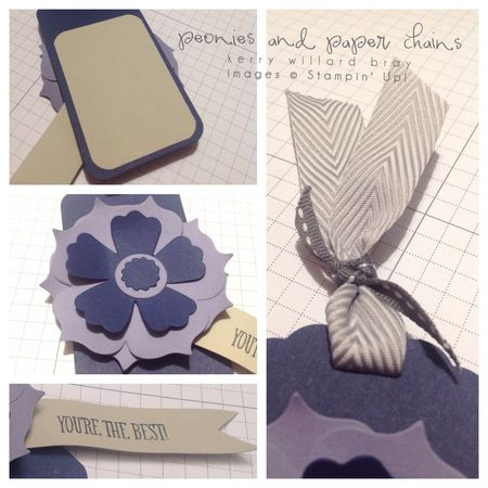 Stampin' Up! Just Sayin' stamps and Fun Flowers Bigz die, tag by Kerry Willard Bray, www.peoniesandpaperchains.com 2