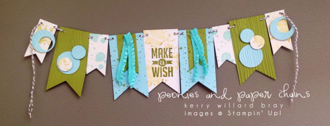 Stampin' Up! Perfect Pennants Gorgeous Grunge mini banner by Kerry Willard Bray www.peoniesandpaperchains.com 2