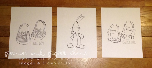 Stampin' Up! Baby We've Grown coloring pages by Kerry Willard Bray www.peoniesandpaperchains.com