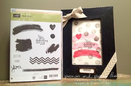 Stampin' Up! Work of Art framed decor by Kerry Willard Bray www.peoniesandpaperchains img2