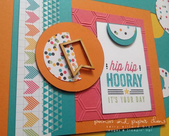 Stampin' Up! #PLxSU Hip Hip Hooray framed art by Kerry Willard Bray www.peoniesandpaperchains PPA204