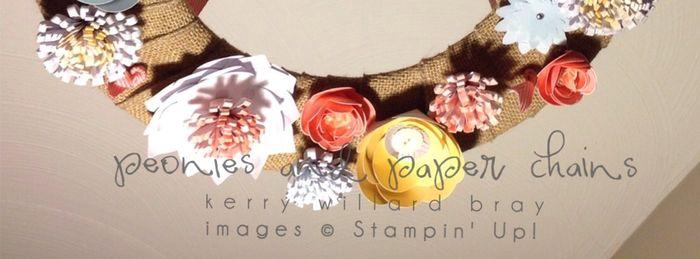 Burlap + Blooms Wreath Stampin' Up!