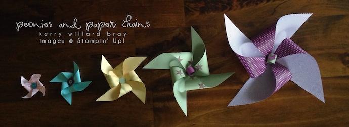 DIY Pinwheels using Stampin' Up! by Kerry Willard Bray www.peoniesandpaperchains.com 3
