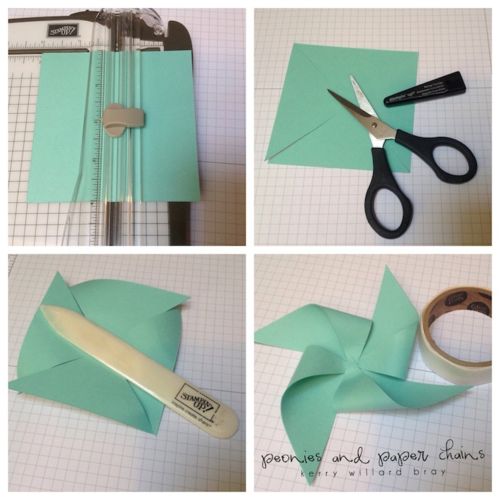 DIY Pinwheel Tutorial using Stampin' Up! products by Kerry Willard Bray www.peoniesandpaperchains.com