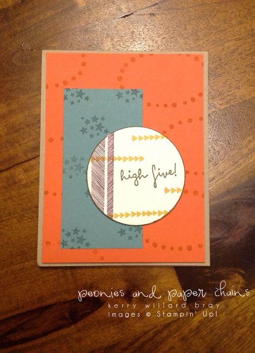 Stampin' Up! High Five stamp set birthday card by Kerry Willard Bray www.peoniesandpaperchains.com 3