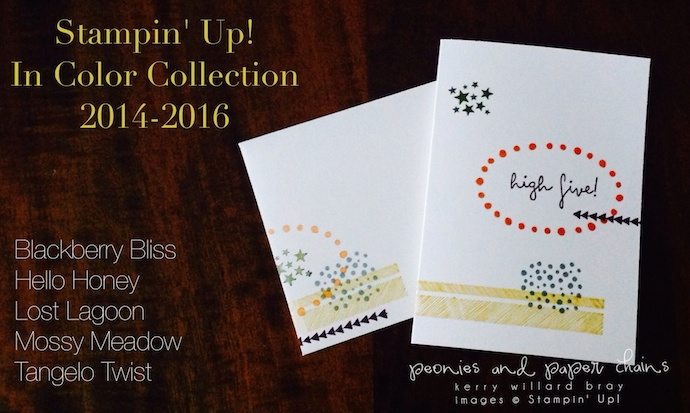 Stampin' Up! 2014-2016 In Colors and High Five stamp set project by Kerry Willard Bray www.peoniesandpaperchains.com 5