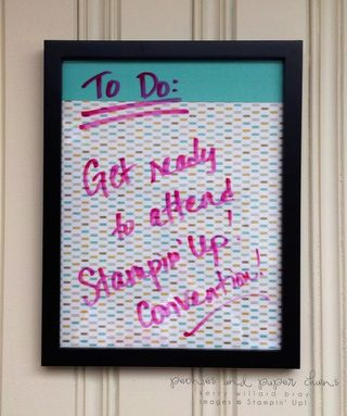 Stampin' Up! Lullaby Designer Series Paper message board by Kerry Willard Bray www.peoniesandpaperchains.com 1