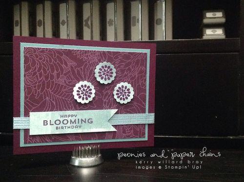 Stampin' Up! Flower Patch Birthday Card by Kerry Willard Bray www.peoniesandpaperchains.com 1