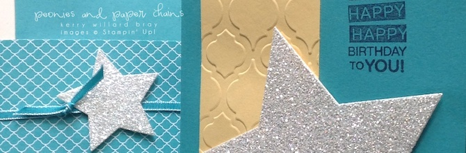 Stampin' Up! Star Framelits and Amazing Birthday card by Kerry Willard Bray www.peoniesandpaperchains.com 2
