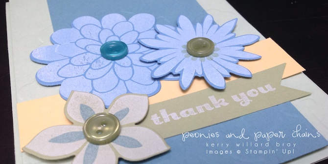 Stampin' Up! Flower Patch Thank You card by Kerry Willard Bray www.peoniesandpaperchains.com 1