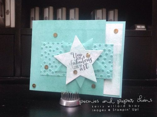 Stampin' Up! Work of Art star card by Kerry Willard Bray www.peoniesandpaperchains.com 3