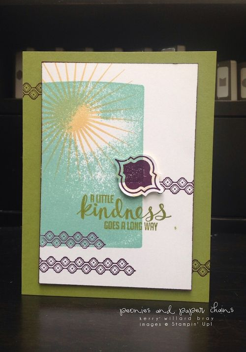 Stampin' Up! Kinda Eclectic and Mosaic Madness card by Kerry Willard Bray www.peoniesandpaperchains.com 1