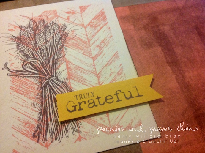 Stampin' Up! Truly Grateful Home Decor by Kerry Willard Bray www.peoniesandpaperchains.com 2