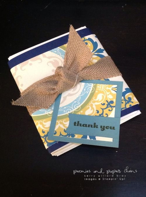 Stampin' Up! Daydream Medallions MDS card wrap by Kerry Willard Bray www.peoniesandpaperchains.com