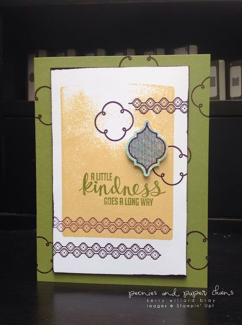 Stampin' Up! Kinda Eclectic and Mosaic Madness card by Kerry Willard Bray www.peoniesandpaperchains.com 2