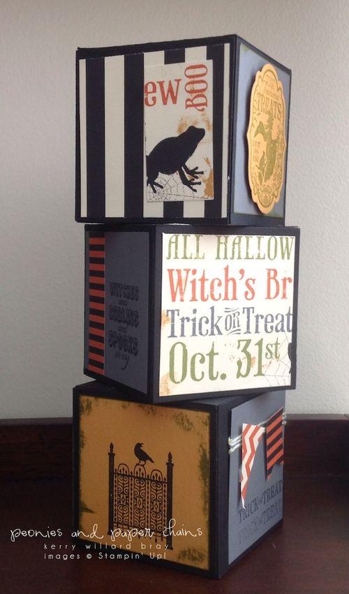 Stampin' Up! Halloween display by Kerry Willard Bray www.peoniesandpaperchains.com 2