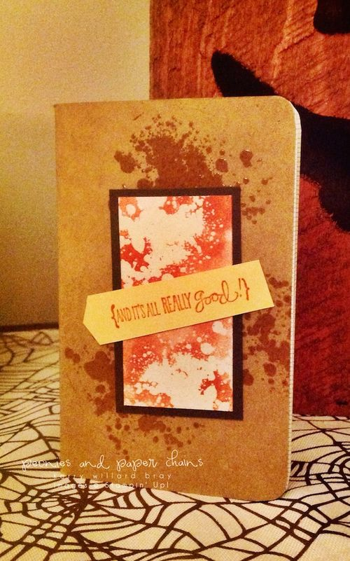 Stampin' Up! Gorgeous Grunge Journal by Kerry Willard Bray www.peoniesandpaperchains.com
