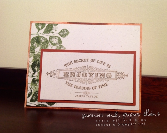 Stampin' Up! From the Heart card by Kerry Willard Bray www.peoniesandpaperchains.com