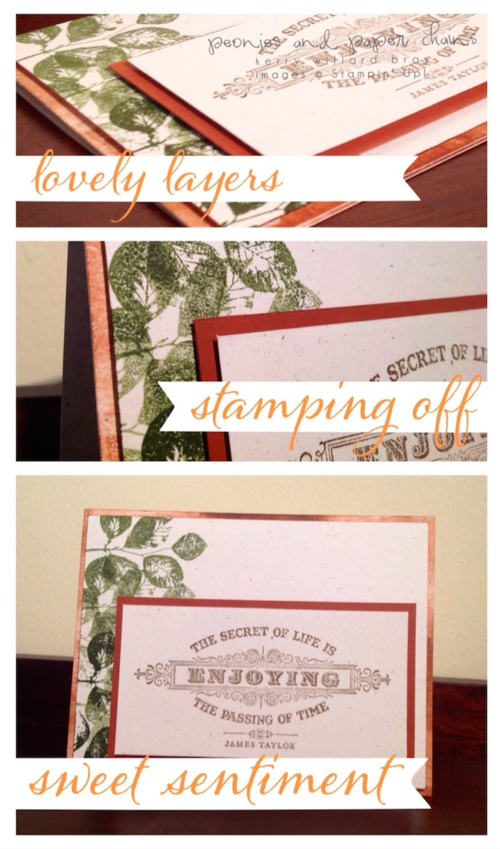 Stampin' Up! From the Heart card by Kerry Willard Bray www.peoniesandpaperchains.com 4