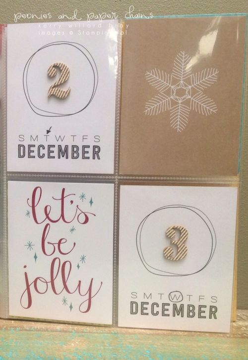 Stampin' Up! PLxSU Hello December Project Life cards by Kerry Willard Bray www.kerrywillardbray.com 4