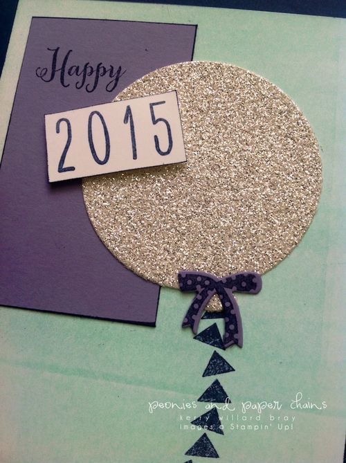 Stampin' Up! Celebrate Today PPA card by Kerry Willard Bray www.kerrywillardbray.com detail