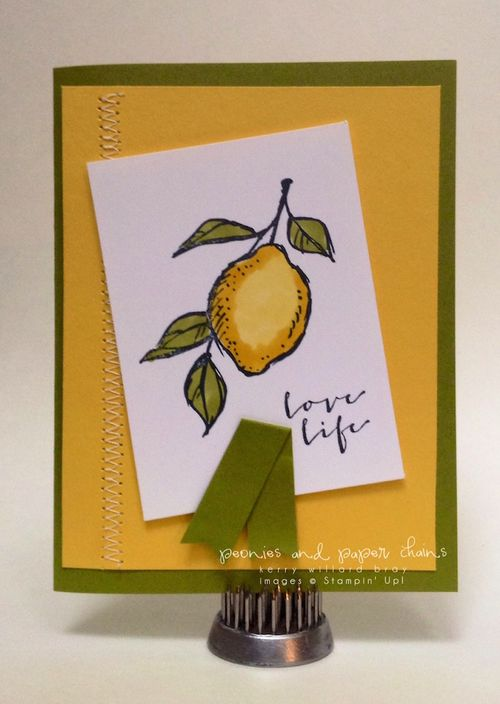 Stampin' Up! A Happy Thing card by Kerry Willard Bray www.kerrywillardbray.com