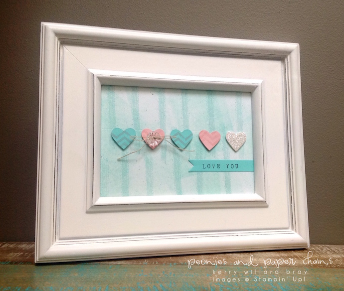 Stampin' Up! Work of Art Valentine's decor by Kerry Willard Bray www.kerrywillardbray.com 4