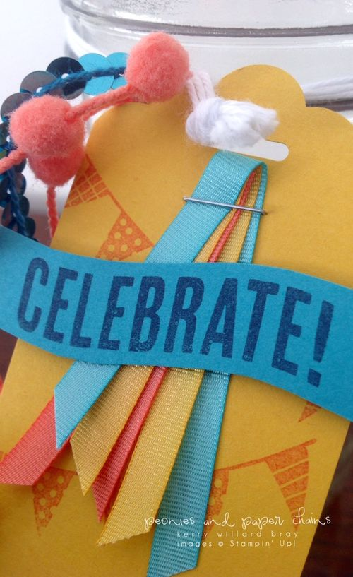 Stampin' Up! Celebrate Today stamps for a celebration jar by Kerry Willard Bray