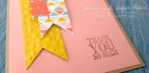 Stampin' Up! Best Day Ever DSP and Lots of Thanks card by Kerry Willard Bray www.kerrywillardbray.com 1