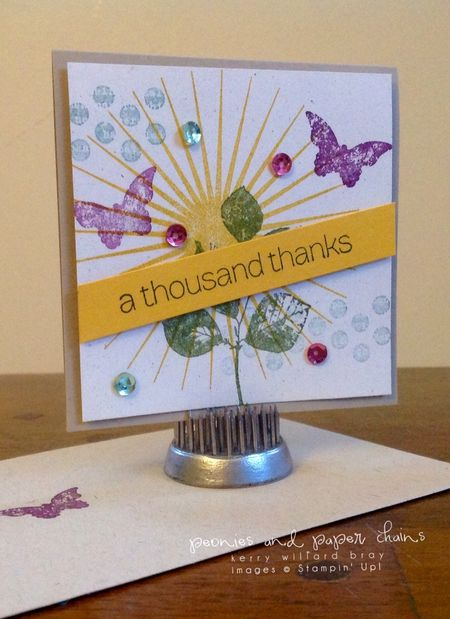 Stampin' Up! Kinda Eclectic thanks card by Kerry Willard Bray www.kerrywillardbray.com