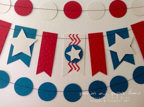 Stampin' Up! Lucky Stars Embossing Folder 4th of July decor by Kerry Willard Bray www.kerrywillardbray.com 3