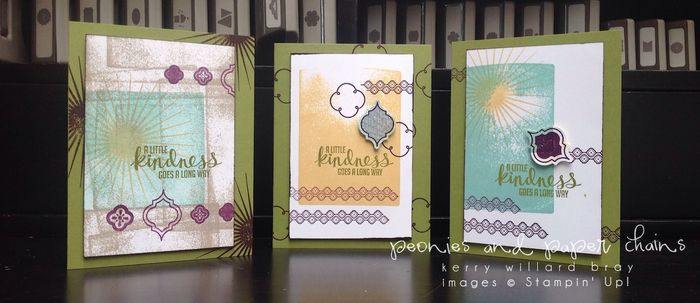 Stampin' Up! Kinda Eclectic and Mosaic Madness card by Kerry Willard Bray www.peoniesandpaperchains.com trio