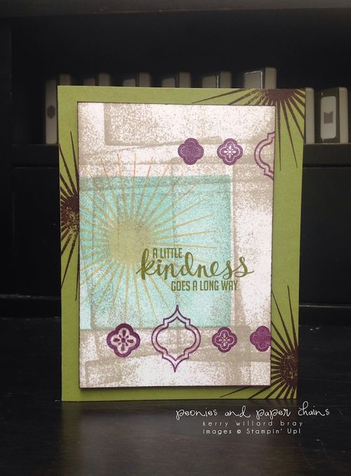 Stampin' Up! Kinda Eclectic and Mosaic Madness card by Kerry Willard Bray www.peoniesandpaperchains.com 3