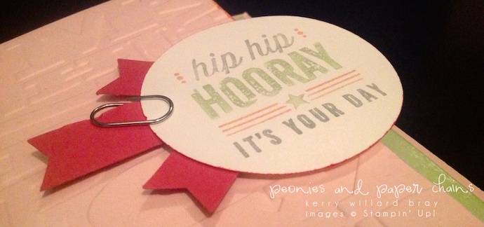 Stampin' Up! Hip Hip Hooray card by Kerry Willard Bray www.peoniesandpaperchains.com 3