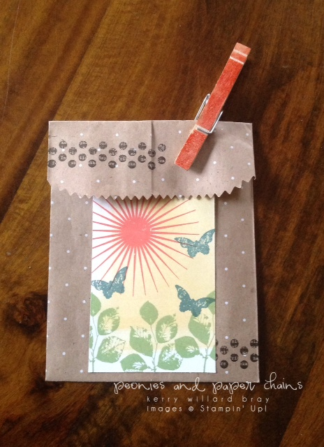 Stampin' Up! Kinda Eclectic gift bag by Kerry Willard Bray www.peoniesandpaperchains.com