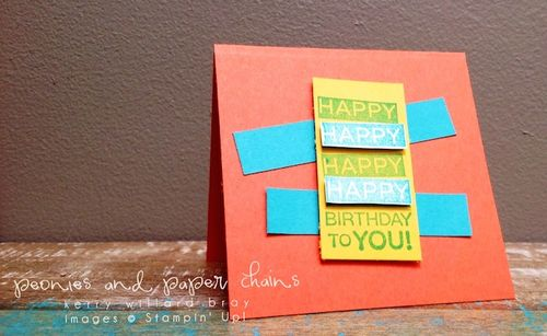 Stampin' Up! Amazing Birthday mini card by Kerry Willard Bray www.kerrywillardbray.com