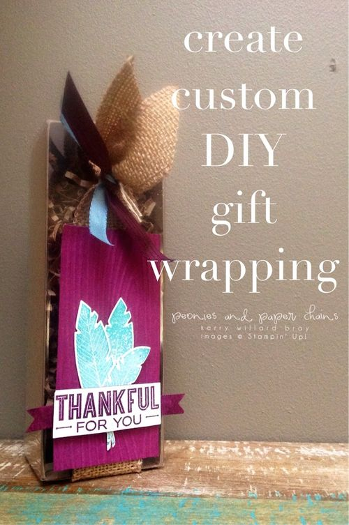 Stampin' Up! Four Feathers Tag a Bag Box by Kerry Willard Bray www.kerrywillardbray.com