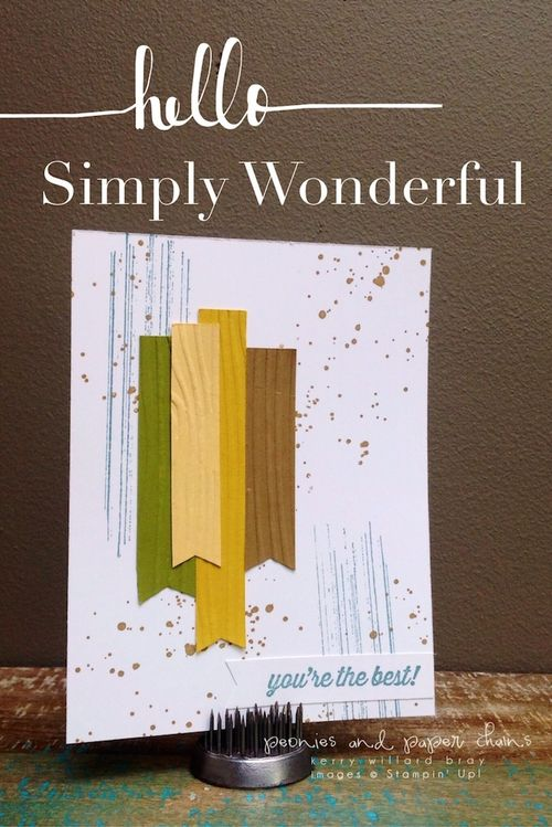 Stampin' Up! Gorgeous Grunge and Simply Wonderful card by Kerry Willard Bray www.kerrywillardbray.com
