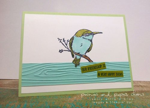 Stampin' Up! A Happy Thing friendship card by Kerry Willard Bray www.kerrywillardbray.com 1