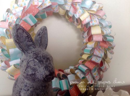 Stampin' Up! Best Day Ever DSP looped paper wreath by Kerry Willard Bray 2