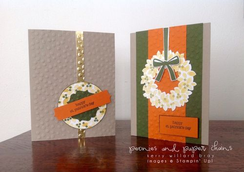 Stampin' Up! Wondorous Wreath St. Patricks Day cards by Kerry Willard Bray www.kerrywillardbray.com