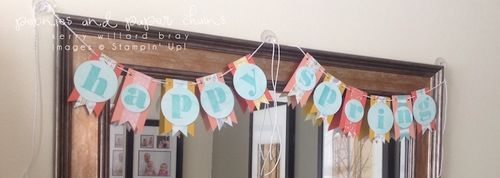 Stampin' Up! Larger Than Life spring banner by Kerry Willard Bray 5
