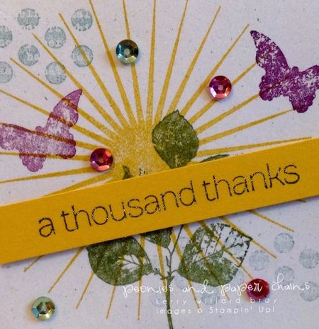 Stampin' Up! Kinda Eclectic thanks card by Kerry Willard Bray www.kerrywillardbray.com detail