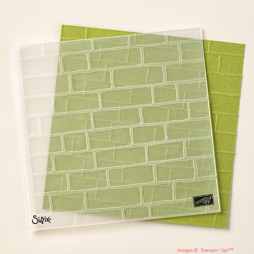 Stampin' Up! Brick Wall embossing folder item 138288