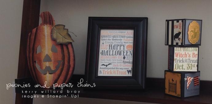 Stampin' Up! Halloween display by Kerry Willard Bray www.peoniesandpaperchains.com